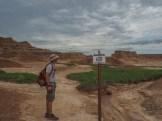 A common warning at Badlands