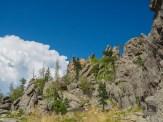 Granite spires form the landscape