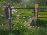 Trailhead gate
