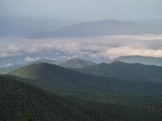 View from Clingmans Dome parking