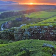 A border fence from ancient times: Hadrian's Wall in England