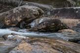 Icy creek rocks