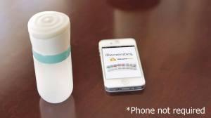 bote de  pastillas conectado