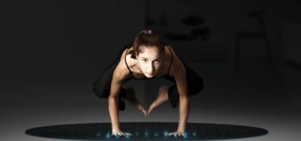 Tera la alfombra conectada para hacer yoga