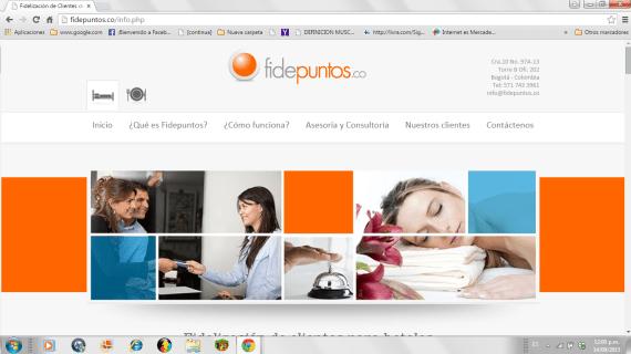 Fidepuntos: Un diseño web sencillo y en su punto