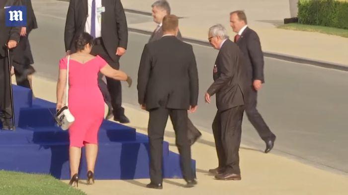 Hullarészeg volt Junker a NATO-csúcson