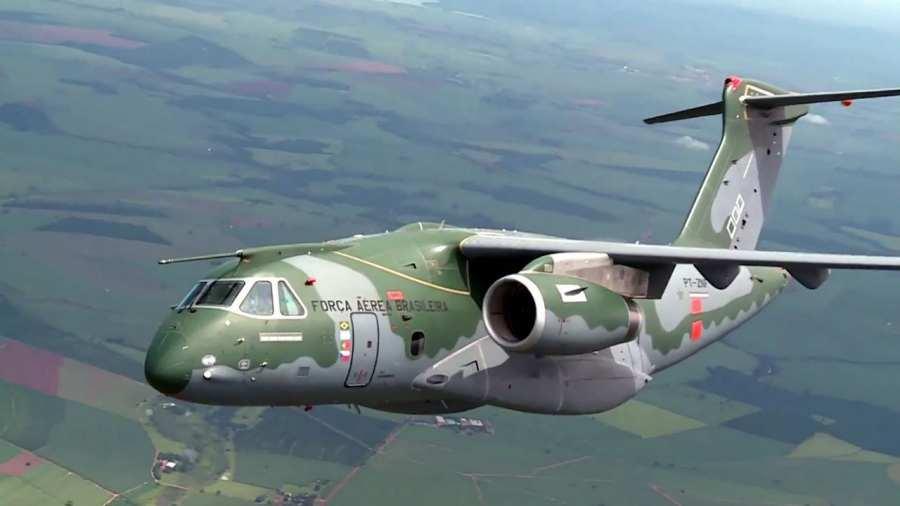 A brazil Embraer a KC-390 típusú katonai szállítógép