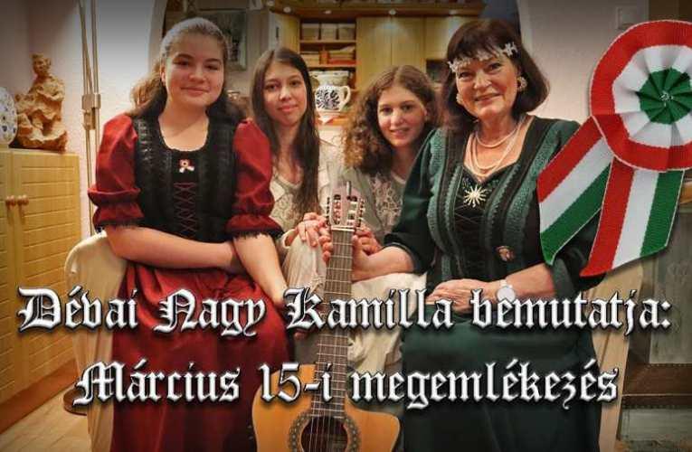 Dévai Nagy Kamilla és tanítványainak megemlékező koncertje 1848. március 15-ről
