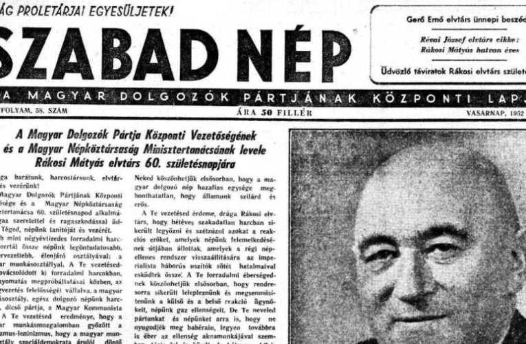Jó, ha nem feledjük: SZABAD NÉP – A hazugság allegória