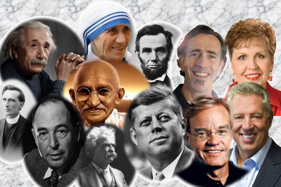 ZItate berühmter Personen - Collage von verschiedenen Personen