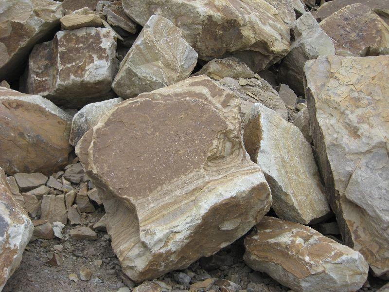 камень песчаник бутовый желтый и коричневый