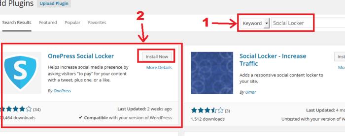 How to Install Social Locker Plugin for WordPress