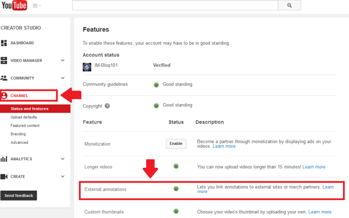 External Annotations Feature | How to Put Annotation Links On Youtube Videos