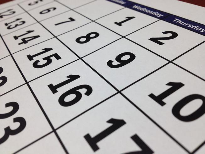 Create content calendar for the year