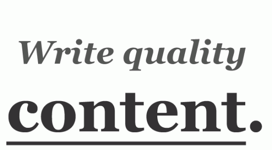 You MUST Write Quality Content For Your Blog Online!
