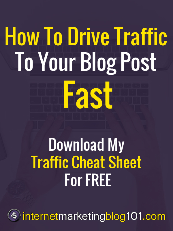 Promote Your Blog Posts - Fast (Download My Traffic Cheat ...
