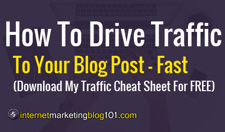 Promote Your Blog Posts - Fast. (Download My Traffic Cheat ...