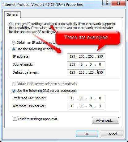 assign static ip address windows 7.w654 - What is My IP Address Windows 7