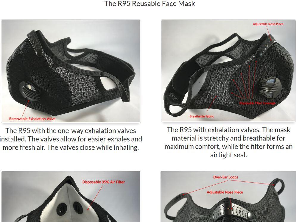 R-95 Reusable Face Mask