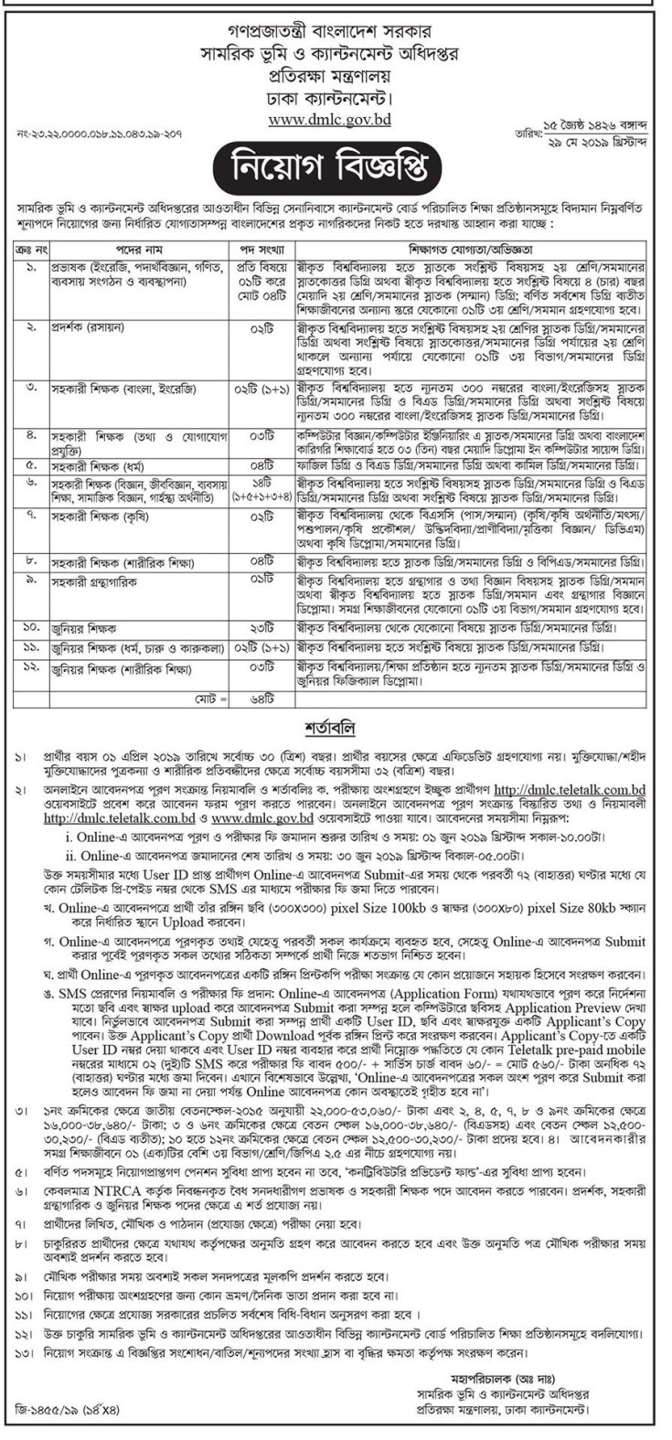 Ministry of Defence (MoD) Job Circular 2019 (3)