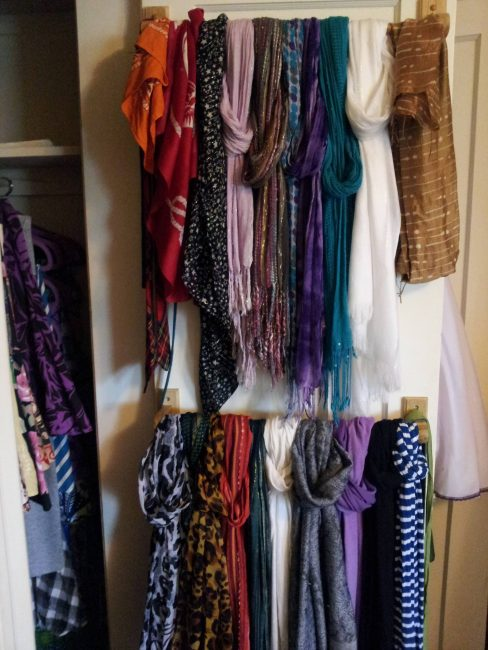 Decorate a Storage for Winter Outdoor Gear Scarves