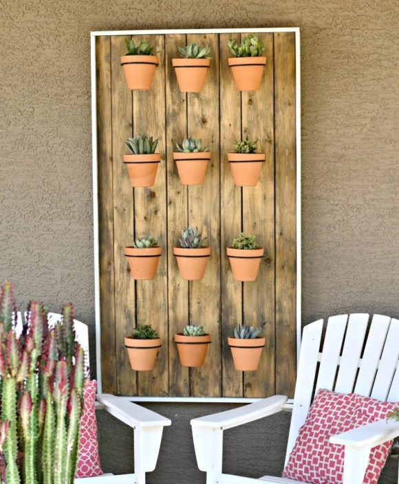 Hanging Succulents Wall