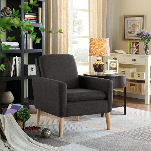 Chic-and-Elegant-Armchair-with-Gray-Color