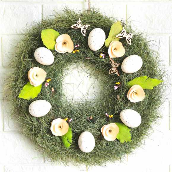 Eggs-and-Grass-Wreath-Home-Decoration