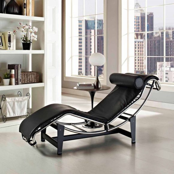 Lounge-Style-Chair-with-Chrome-Frame