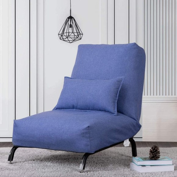 Low-Sitting-Reading-Chair-with-Blue-Linen