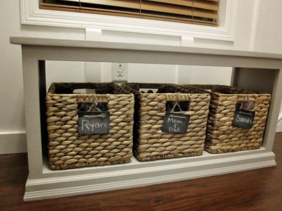 Rustic Basket with Labels