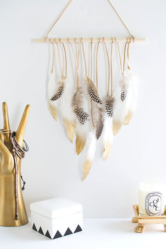 Tribal-Feather-Wall-Hanging-Desk