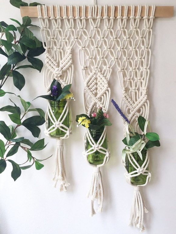 Wall-Hanging-Planters-Macrame