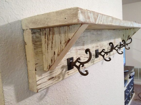 Barn Style Coat Rack with Shelf