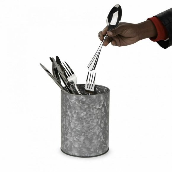 Cutlery Organizer with Galvanized Wash Tub