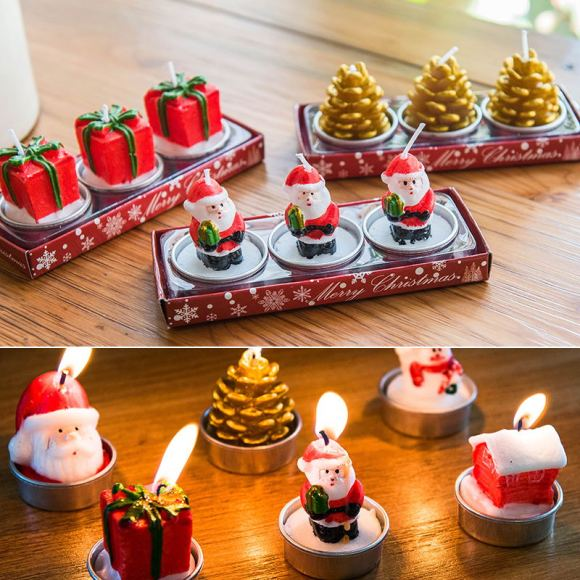Decorative Candles with Candy Cane Effect