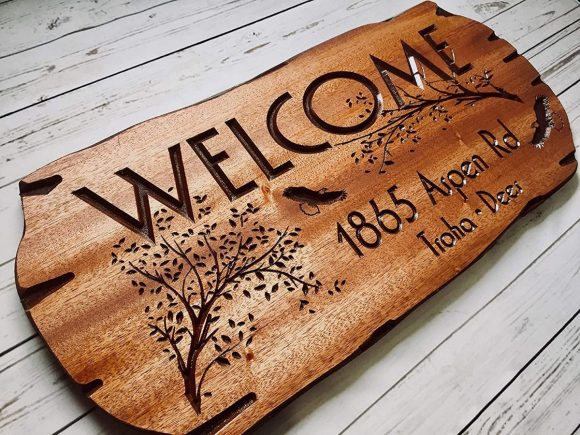 Personalized-Wooden-Sign-Address
