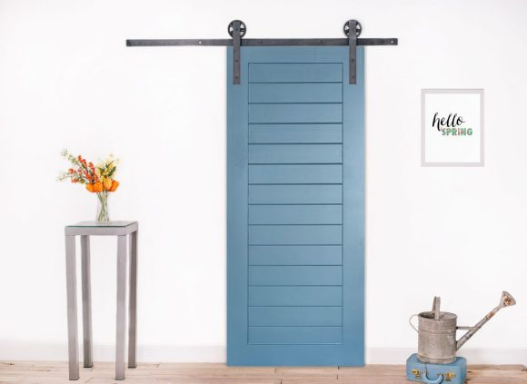 Rustic 'Hello' with Barn Door Style