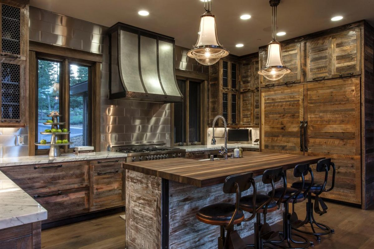 Rustic-and-Shimmering-Kitchen-Cabinets