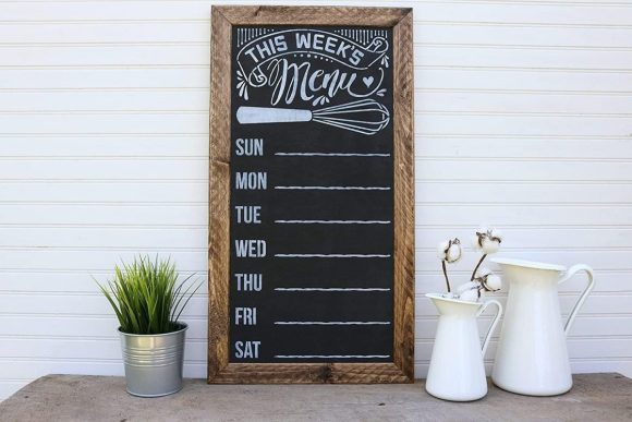 Old Picture Frames for Chalk Board