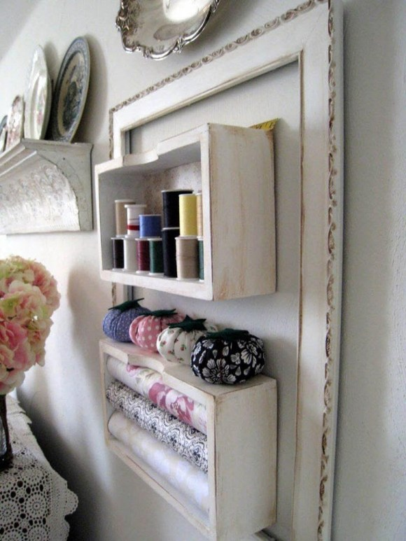 Wall Storage Display for Sewing and Crafting Stuff