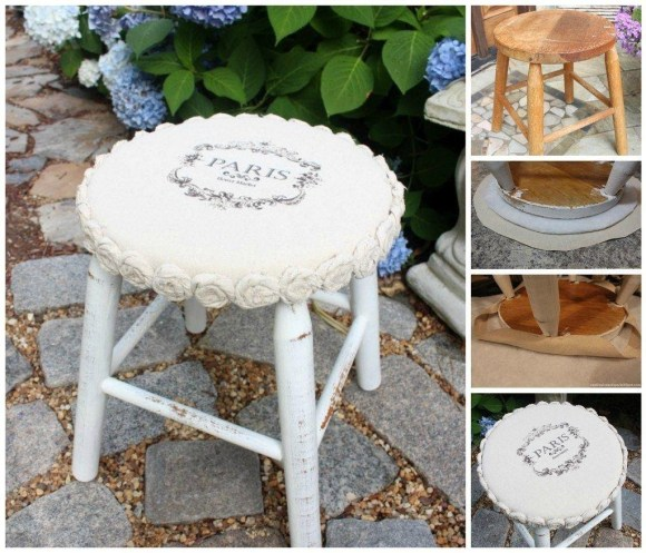 Classy Shabby Chic Furniture with Mini Rosette from Drop Cloth