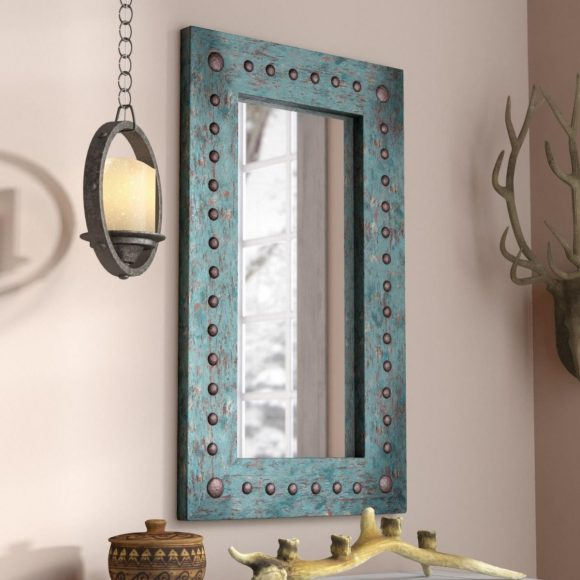 Soft Shabby Chic Style with Distressed Painted Mirror