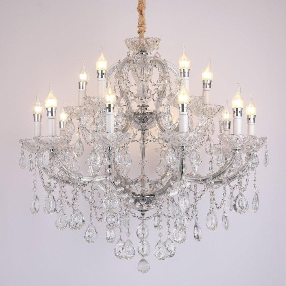 Shabby Chic Furniture with Crystal Chandelier