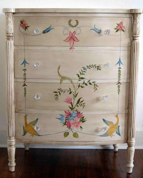 Hand Painted Drawers