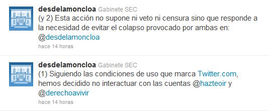 Twitter La Moncloa
