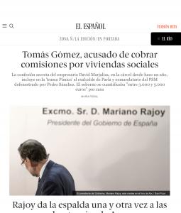 Portada de El Español