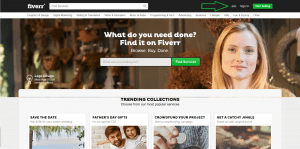 Creating Account - Fiverr