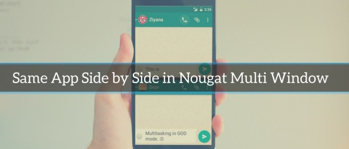 nougat multi windows mode