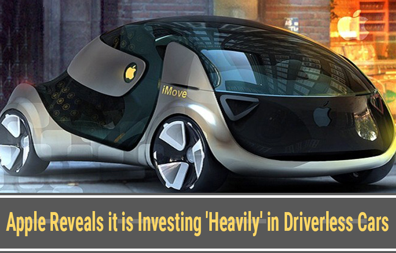 Apple reveals it is investing 'heavily' in driverless cars